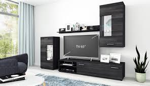 details zu wohnwand anbauwand tv wand wohnzimmer möbel set cool 4 teilig schwarz