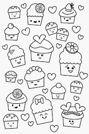 Print Cupcake Coloring Pages