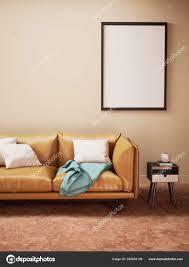 modernes wohnzimmer mit beiger wand zimmer attrappe stilvoll