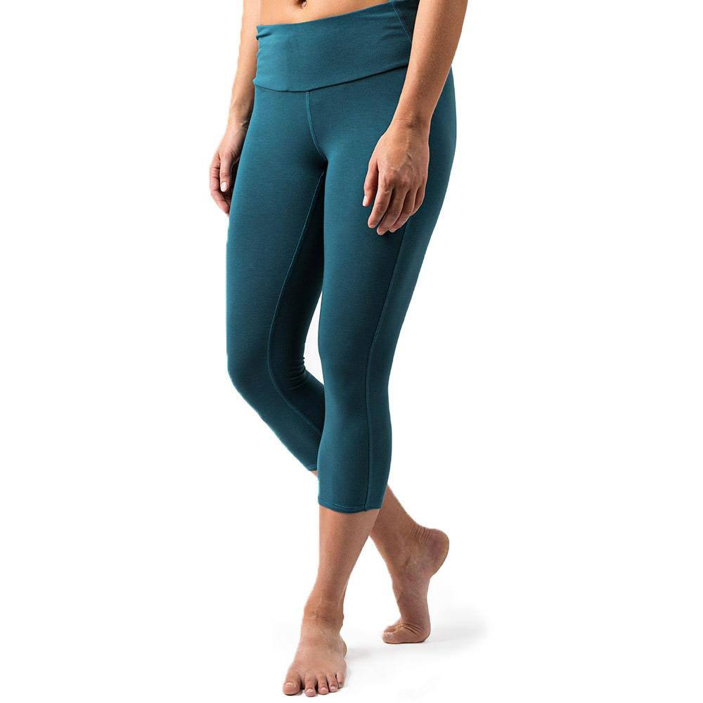 Free Fly Women's Bamboo Cropped Tights Storm Blue / Small