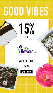 Save 15% On Flowers And Gifts At 1800flowers.com And Be The ... 15 Off Pickup Flowers Coupon Promo Discount Codes 2019 Avas Code The Bouqs Flash Sale Save 20 Last Day Hello Subscription Pughs Flowers Coupon Code Diesel 2018 Calamo Ftd Off Flower Muse Coupons Promo Discount November Universal Studios Dangwa Florist Manila Philippines Valentine Discounts Codes Angie Runs Florist January 20 Ilovebargain
