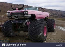 Pink Cadillac Monster Truck With Horns, Criffel Range, Otago, South ...