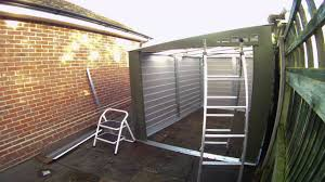 Titan Garages And Sheds by Trimetals Titan 960 Motorcycle Shed Assembly Timelapse Youtube