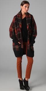 sonia rykiel oversized plaid sweater jacket shopbop