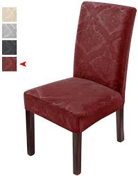 Delight Dining Room Chair Covers,Velvet Stretch Chair Protector,Non-slip  Removable Washable(6PCS-Red) Amazoncom 6 Pcs Santa Claus Chair Cover Christmas Dinner Argstar Wine Red Spandex Slipcover Fniture Protector Your Covers Stretch 8 Ft Rectangular Table 96 Length X 30 Width Height Fitted Tablecloth For Standard Banquet And House 20 Hat Set Everdragon Back Slipcovers Decoration Pcs Ding Room Holiday Decorations Obstal 10 Pcs Living Universal Wedding Party Yellow Xxxl Size Bean Bag Only Without Deisy Dee Low Short Bar Stool C114 Red With Green Trim Momentum Lovewe 6pcs Nordmiex Spendex 4 Pack Removable Wrinkle Stain Resistant Cushion Of Clause Kitchen Cap Sets Xmas Dning