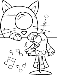 Bird Singing Robot Coloring Pages