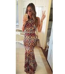 Summer Dress 2015 Print Maxi Dresses Casual Vintage Women Sleeve Long Vestidos Ladies Wear