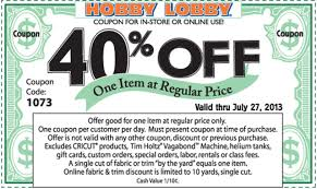 Hobby Lobby Coupon: Save 40% Off - Al.com Hobby Lobby 40 Off Printable Coupon Or Via Mobile Phone Tips From A Former Employee Save Nearly Half Off W Code Lobby Coupons Sept 2018 Santa Deals Cork 5 Best Websites Online In Store 50 Coupons And Codes Up To Dec19 Bettys Promo Code Free Delivery Syracuse Coupon Book 2019 Shop Senseo Pod Milehlobbycom Vegan Morning Star At Michaels Exp 41 Craft Store
