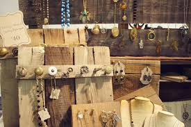 Necklaces On Wood With Random Knobs Display