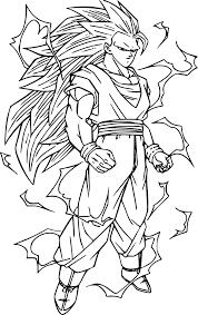 Coloriage De Sangoku Super Sayen 10