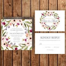 Description Rustic Wedding Invitation