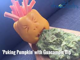 Puking Pumpkin Cheese Dip by T4b084 Healthy Thermomix Halloween Ideas That Will Spook You Out