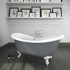 Earl Grey 1750 Double Ended Roll Top Slipper Bath W. Ball + Claw Leg ... Modern Bathroom Small Space Lat Lobmc Decor For Bathrooms Ideas Modern Bathrooms Grey Design Choosing Mirror And Floor Grey Black White Subway Wall Tile 30 Luxury Homelovr Bathroom Ideas From Pale Greys To Dark 10 Ways Add Color Into Your Freshecom De Populairste Badkamers Van Pinterest Badrum Smallbathroom Make Feel Bigger Fascating Storage Cabinets 22 Relaxing Bath Spaces With Wooden My Dream