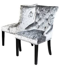 Pair Of Crushed Velvet Dining Chairs, Grey Simple Living Vintner Country Style Ding Chairs Set Of 2 Corinne Linen Chair With Black Espresso Wood Caracole Classic Collar Up Gorees Fniture Opelika Al Chateau De Ville Cherry Roco Ding Chair Contemporary Beautifully Made In Italy Calia Bronze Draped Chair High End Luxury Design Rustic Sonoma Cross Back Stackable W Cushion Tinted Raw Ten Side 100 Michelle 2pack Cooper Roche Light Grey Velvet