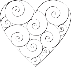 Coloring Download Small Heart Pages Dont Eat The Paste Swirl Hearts To Color Doodles