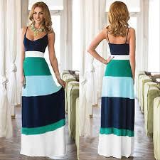 women summer boho long maxi evening party dress beach dresses