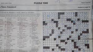 What section contains the crossword in the Sunday NY Times