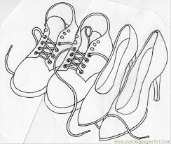Shoes Crop Coloring Page