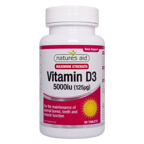 Natures Aid Vitamin D3 5000iu 60 Tablets