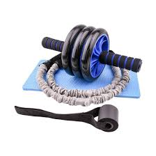 ab wheel roller with resistance bands door anchor