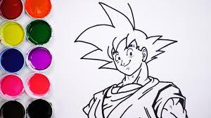 Dibuja Y Colorea A Goku Dibujos Para Niños Learn Draw FunKeep