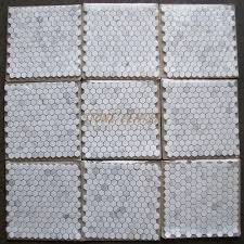 calacatta gold 1 inch hexagon mosaic tile honed marble from