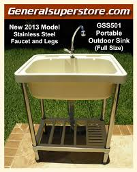 Stainless Steel Utility Sink With Legs by A1 Outdoor Portable Sink Full Size Water Station Camp