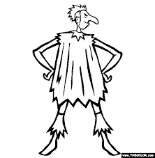 Scary Halloween Costume Online Coloring Page