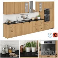 3d models kitchen ikea metod ekestad