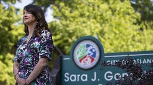 For The Atlanta Journal Constitution May 13 2018 Isabel Gonzalez Whitaker At Groundbreaking Ceremony Park Named After Her Mother
