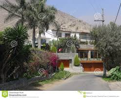 100 Houses For Sale In Lima Peru Four Levels Modern Chaclacayo Stock