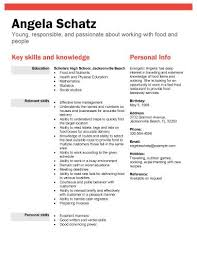 Resume Examples High School Student