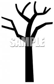 Bare tree coloring page Bare Winter Tree Silhouette