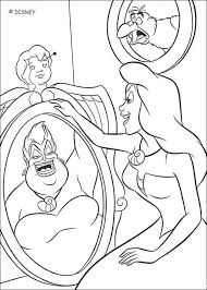 Ursula And Ariel Coloring Page
