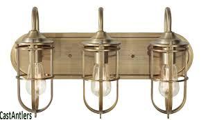 Lovable Retro Vanity Light Retrovintageindustrial Edison 3 Intended For Bulb