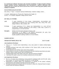 Resume Examples For 1 Year Experience Combined With Format