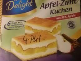 sweet delight apfel zimt kuchen apfel zimt kalorien