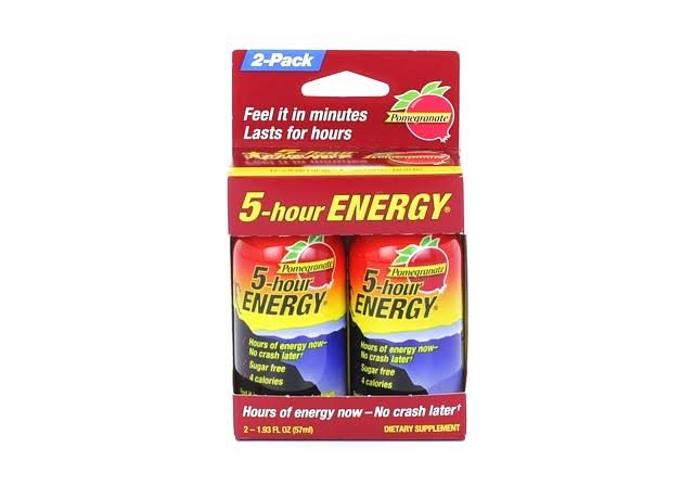5 Hour Energy Pomegranate Health Drink - 1.93oz, 2pk