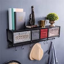wandregal metall eisen mit schubladen für wohnzimmer loft