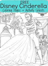 FREE Disneys Cinderella Coloring Sheets Activities For Kids