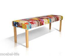 bill patchwork design bank mehrfarbig sitzbank polsterbank bunt bänke 160 cm
