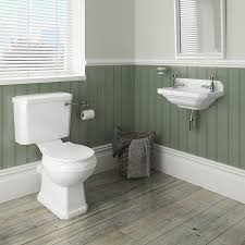Acorn Corner Mop Sink by Carlton Traditional Cloakroom Suite Close Couple Toilet U0026 Wall