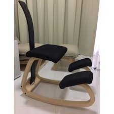 Ergonomic Kneeling Chair Australia by Varier Variable Balans Kneeling Chair With Backrest Home