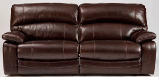 Berkline Leather Sleeper Sofa by Damacio Dark Brown 2 Seat Power Reclining Sofa From Ashley