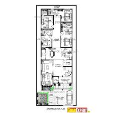 House Plan For 40 Feet By 100 Feet Plot Plot Size 444