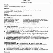 Mechanic Resume Objective Good Sample For Student New Auto American