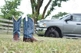100 Cowboy Truck Blue Boots And A Big Stock Photo Picture And Royalty