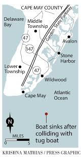 Tug Boat Sinks by Fishermen Rescued Off Cape May After Boat Sinks In Collision With