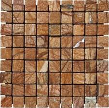 1x1 cafe forest marble square pattern tumbled mosaic tile