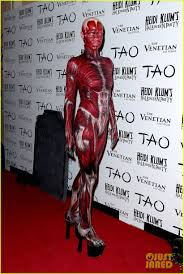 Heidi Klum Halloween 2014 by Heidi Klum Doa Bloody Human Muscle Tissue And Veins Costume